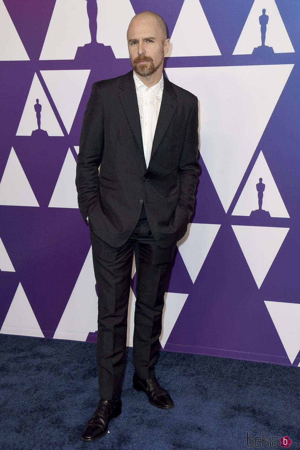 Sam Rockwell en el almuerzo de nominados de los Premios Oscar 2019