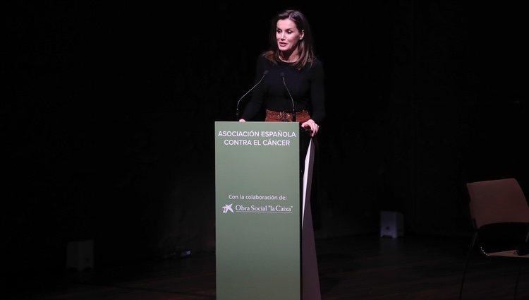 La Reina Letizia en su discurso en el VIII Foro Contra el Cáncer 'Por un enfoque Integral'