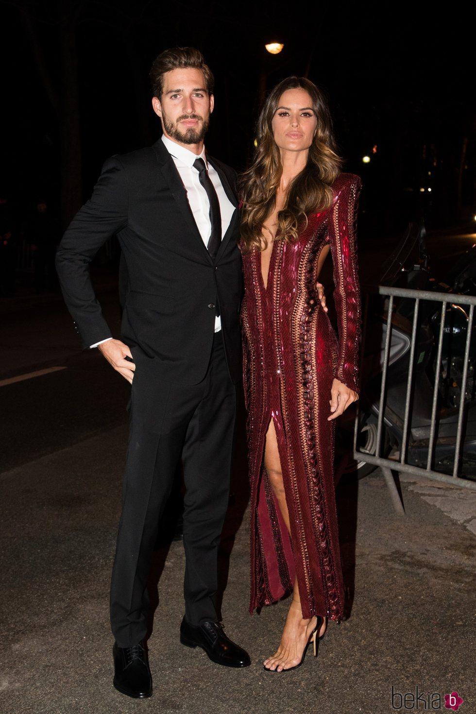Kevin Trapp y Izabel Goulart  en la fiesta de cumpleaños de Neymar
