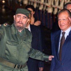 Fidel Castro y el Rey Juan Carlos en Cuba en 1999
