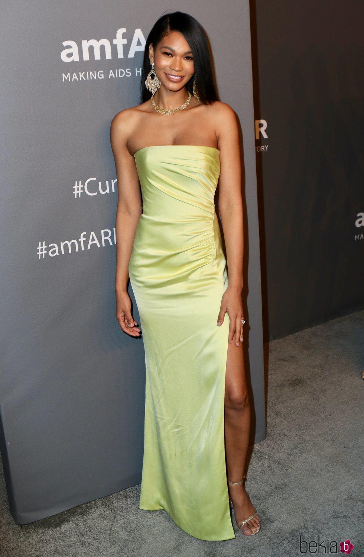 Chanel Iman en la gala amFAR 2019