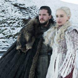 Jon Snow y Daenerys Targaryen en la octava temporada de 'Juego de Tronos'