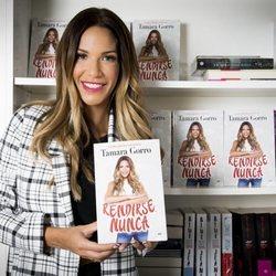 Tamara Gorro en la presentación de su segundo libro 'Rendirse Nunca'