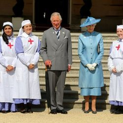 El Príncipe Carlos y Alexandra de Kent en el aniversario de la Cruz Roja