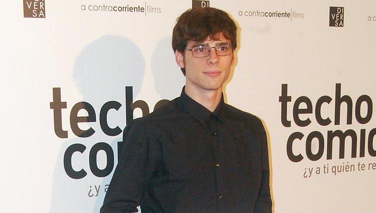 Óscar Sinela en la premiere de una película