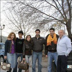 Humberto Janeiro junto a  Jesulín y María José Campanario, Víctor Janeiro y Beatriz Trapote y Humberto Janeiro Jr.