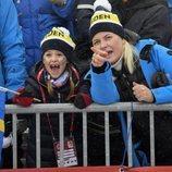 La Princesa Mette-Marit y la Princesa Estela de Suecia en los Campeonatos del Mundo de Esquí Alpino 2019