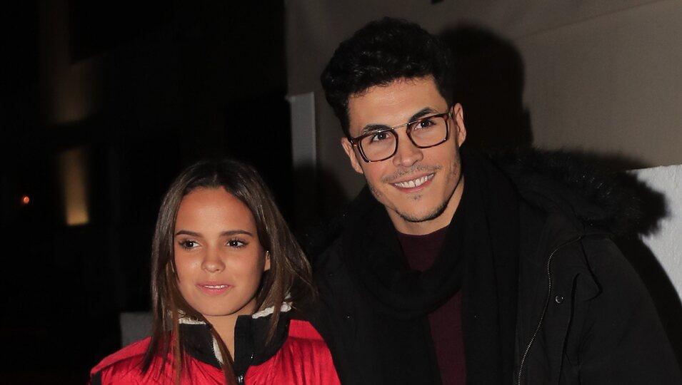 Gloria Camila y Kiko Jiménez en el cumpleaños de José María Ortega