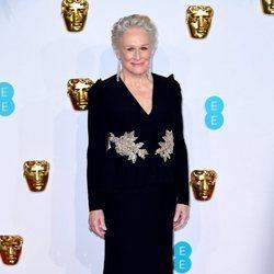 Glenn Close en la alfombra roja de los Premios BAFTA 2019