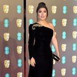 Salma Hayek en la alfombra roja de los Premios BAFTA 2019