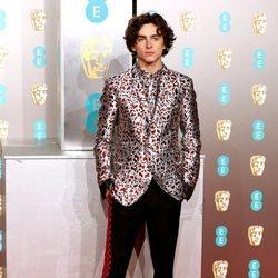 Timothee Chalamet en la alfombra roja de los Premios BAFTA 2019