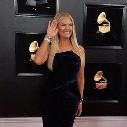 Nancy O'Dell en la alfombra roja de los Grammy 2019
