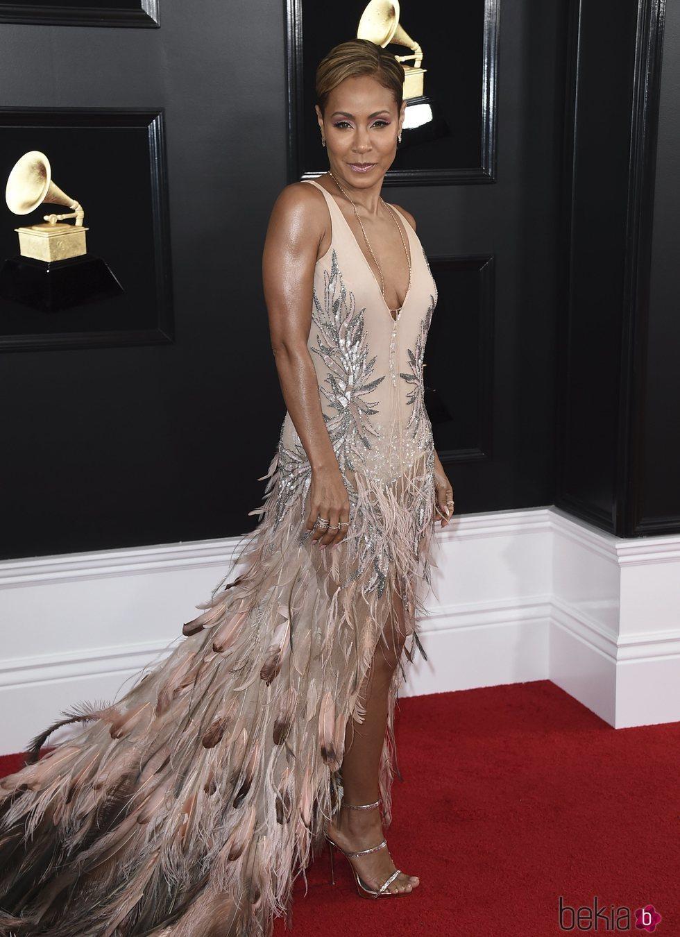 Jada Pinkett Smith en la alfombra roja de los Grammy 2019
