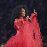 Diana Ross durante su actuación en los Grammy 2019