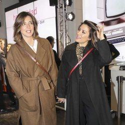 Nagore Robles y Sandra Barneda en la presentación del libro de Risto Mejide