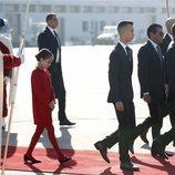 Mohamed VI, Moulay Hassan y Lalla Khadija de Marruecos en la recepción a los Reyes Felipe y Letizia en Rabat