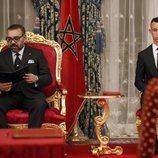 Mohamed VI y Moulay Hassan en la firma de acuerdos bilaterales con España