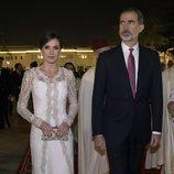 Los Reyes Felipe y Letizia en la cena de gala en su honor en Rabat