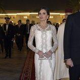 La Reina Letizia en la cena de gala por su Viaje de Estado a Marruecos
