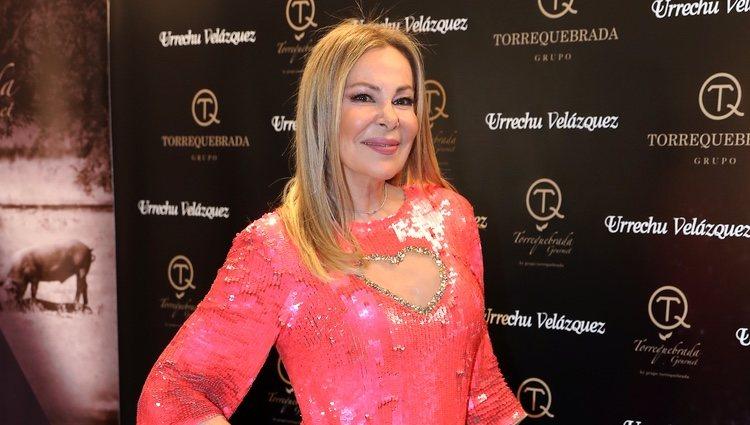 Ana Obregón en un evento gourmet el día de San Valentín 2019