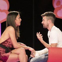 Sofía Suesun y Alejandro Albalá reencontrándose en 'GH DÚO' durante la gala 7