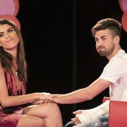 Sofía Suescun y Alejandro Albalá juntos en la sala de los reencuentros en 'GH DÚO' durante la gala 7