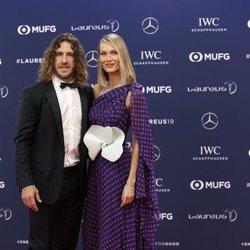 Carles Puyol y Vanesa Lorenzo en los Premios Laureus 2019