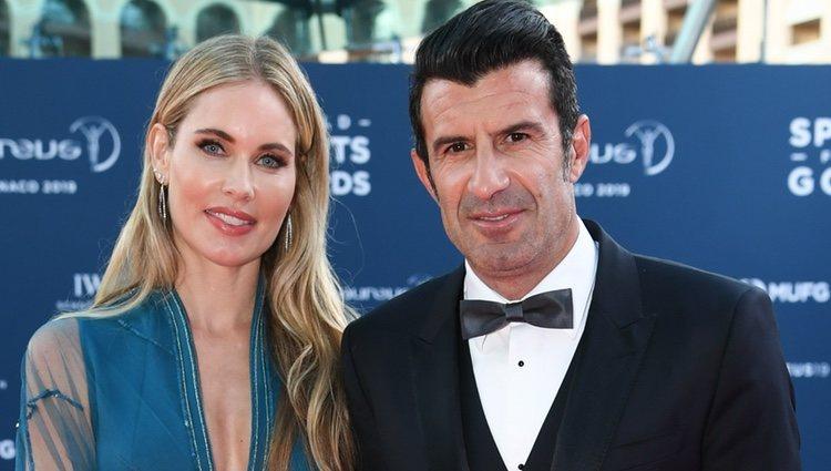 Luis Figo y su mujer Helen Svedin en los Premios Laureus 2019