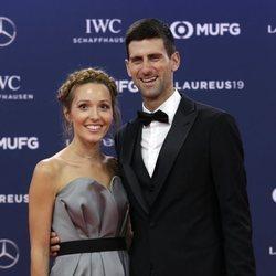 Novak Djokovic y su mujer en los Premios Laureus 2019