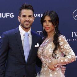 Cesc Fàbregas y su mujer Premios Laureus 2019