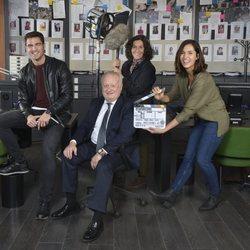 Elenco de 'Desaparecidos' durante el rodaje