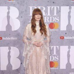 Florence Welch en la alfombra roja de los Brit Awards 2019