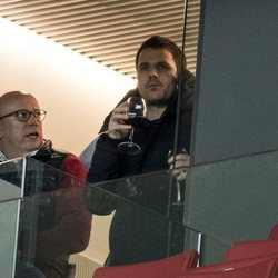 Dani Martín en el Wanda Metropolitano viendo el Atlético de Madrid - Juventus de Turín