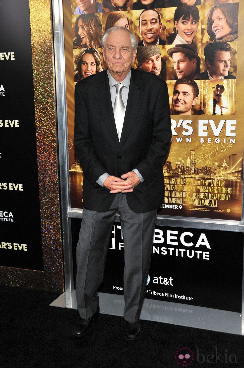 Garry Marshall en el estreno de 'New Year's Eve' en Nueva York