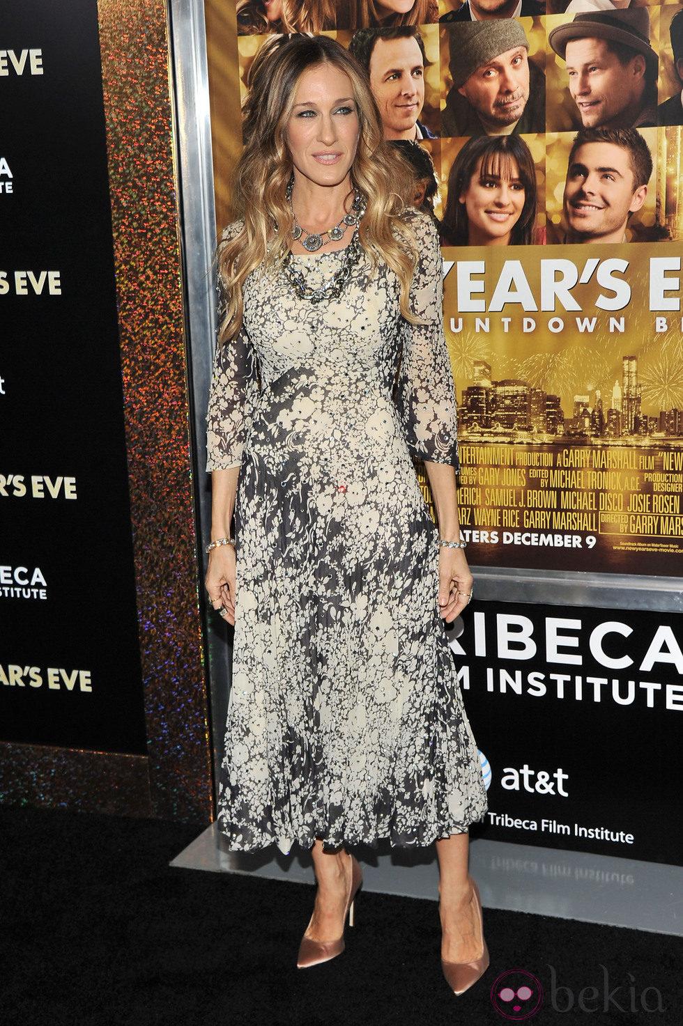 Sarah Jessica Parker en el estreno de 'New Year's Eve' en Nueva York