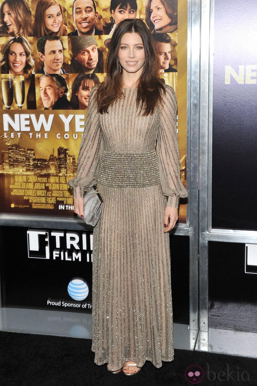 Jessica Biel en el estreno de 'New Year's Eve' en Nueva York