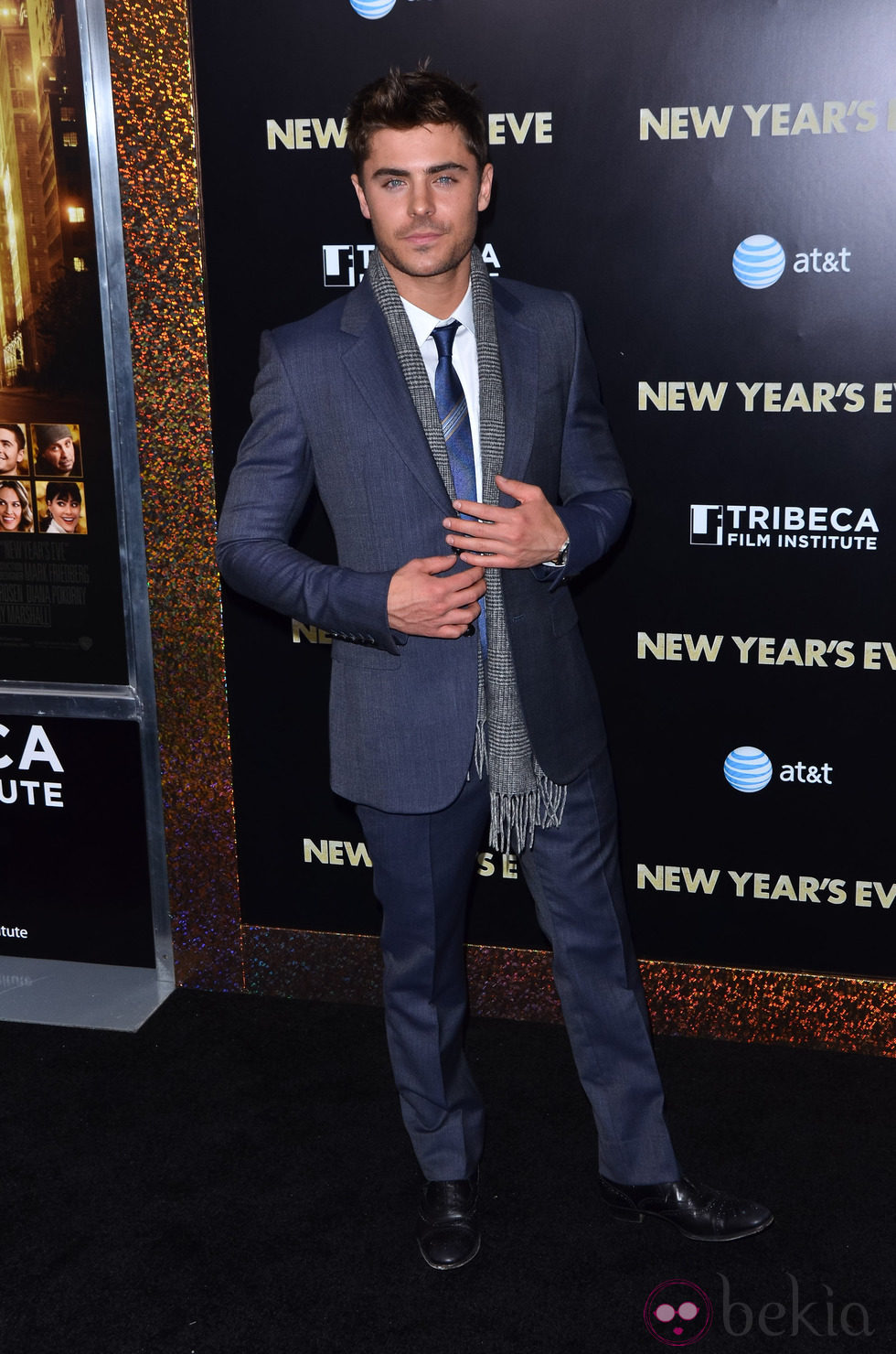 Zac Efron en el estreno de 'New Year's Eve' en Nueva York