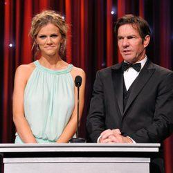 Brooklyn Decker y Dennis Quaid en la gala Unicef Ball 2011