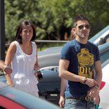 David Villa y su mujer
