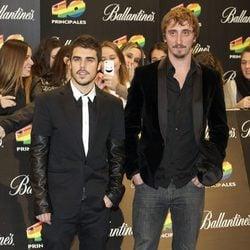 Javier Hernández e Iván Massagué en los Premios 40 Principales 2011