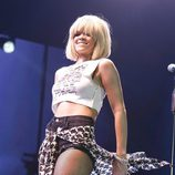 Rihanna durante el concierto Jingle Ball 2011 en Londres