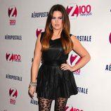 Khloe Kardashian posando en el concierto de los Jingle Ball 2011