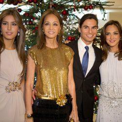 Ana Boyer, Isabel Preysler, Julio José Iglesias y Tamara Falcó en Oviedo
