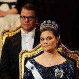 Los Príncipes Victoria y Daniel de Suecia en la entrega de los Premios Nobel 2011