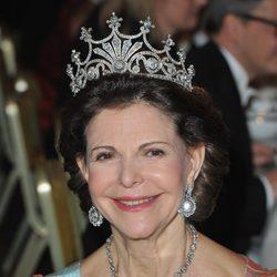 La Reina Silvia de Suecia en el banquete de los Premios Nobel 2011