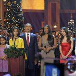 Los Obama, Jennifer Hudson, Victoria Justice y Justin Bieber en 'Navidad en Washington'