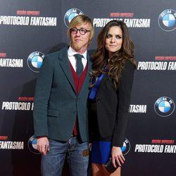 Guti y Romina Belluscio en el estreno de 'Misión imposible: Protocolo fantasma' en Madrid