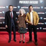 Los duques de Alba y Tom Cruise en el estreno de 'Misión imposible: Protocolo fantasma' en Madrid