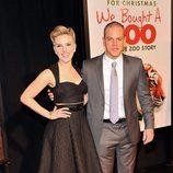 Scarlett Johansson y Matt Damon en el estreno de 'Un lugar para soñar' en Nueva York