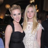 Scarlett Johansson y Elle Fanning en el estreno de 'Un lugar para soñar' en Nueva York